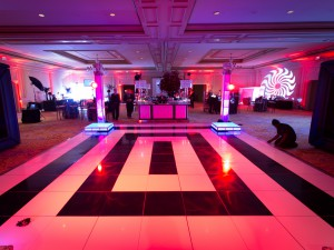 Dance Floor - Acrylic Black and White Rings Ritz Carlton Pentagon City 2