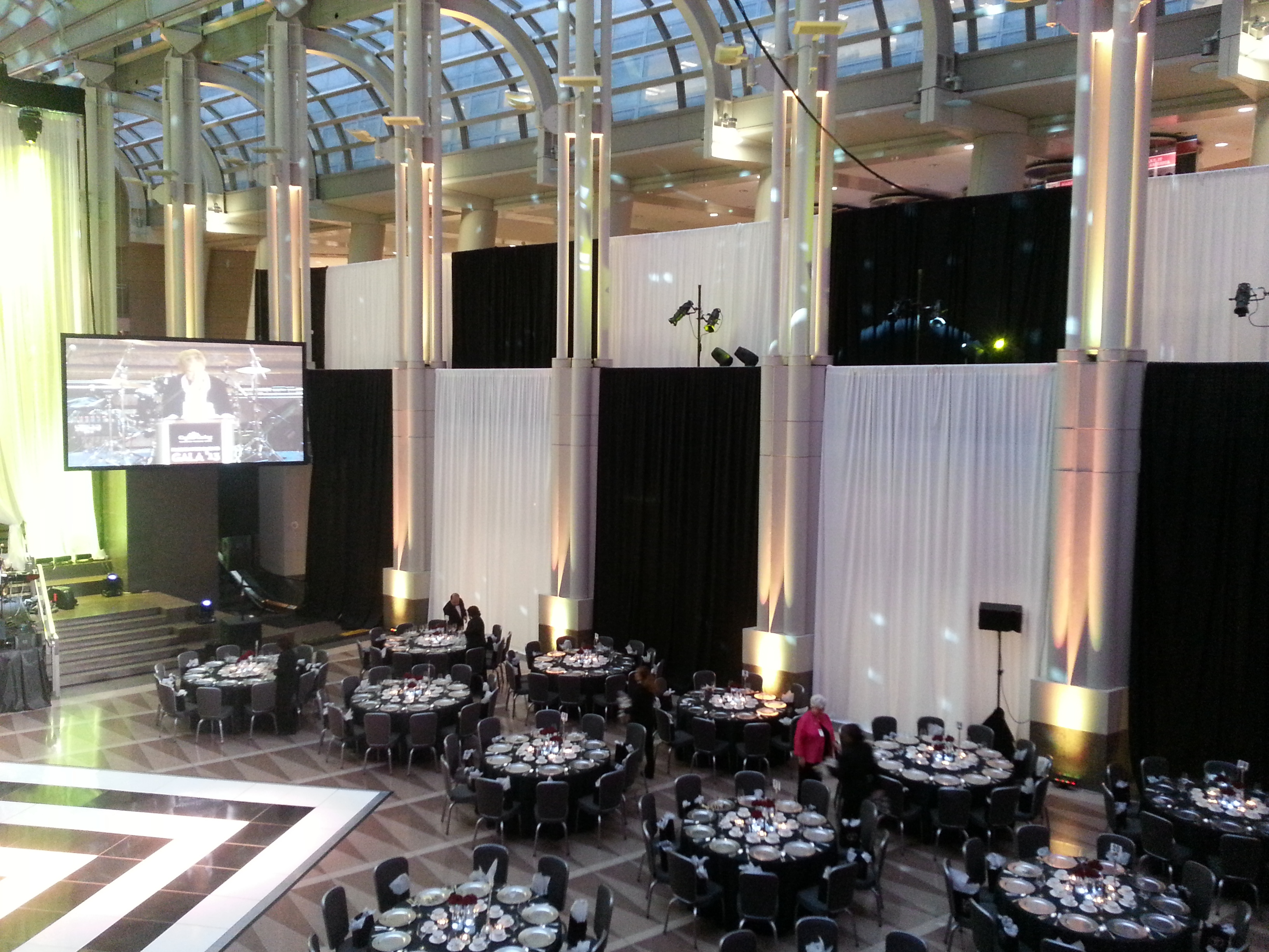 draping led and uplighting events miami drapes parties up drape sound lighting pipe