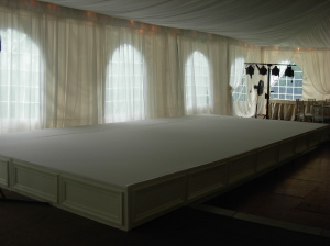 Tent Wedding - Hard Skirt Stage