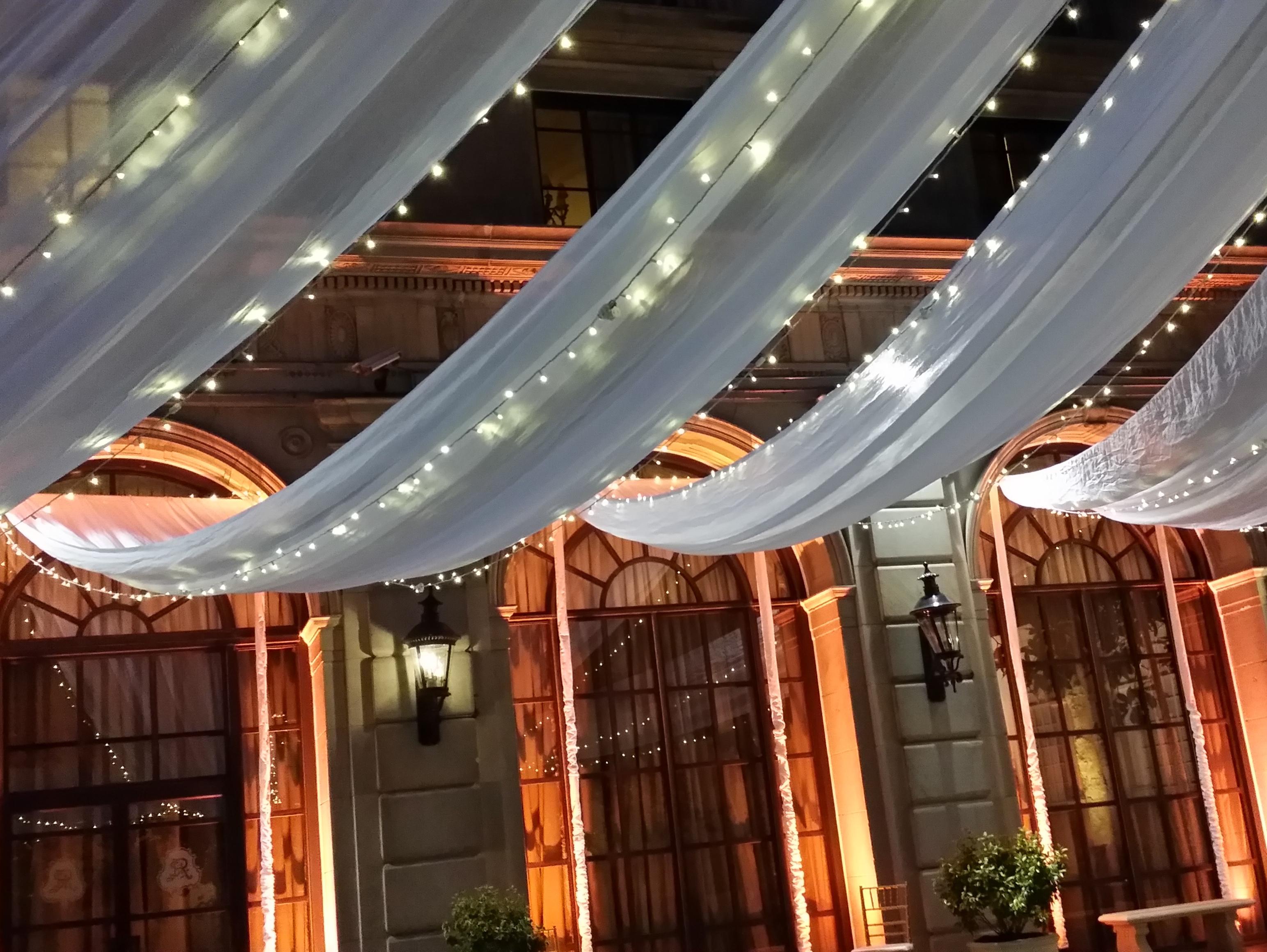 St Regis Washington D C Wedding B Lights Ceiling Swags